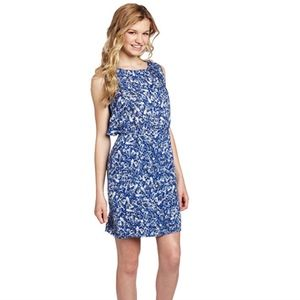 BB Dakota Blue & White Print Short Kimber Dress